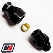 8MM OD METAL FUEL PIPE COMPRESSION FITTING AN-6 MALE -  RACINGLINES